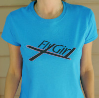 FlyGirl shirt Close
