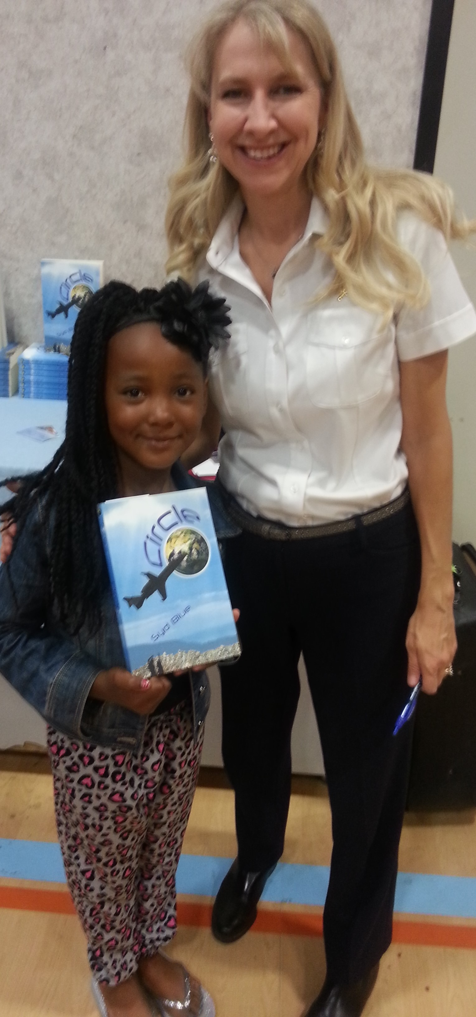 Adorable reader near Edwards AFB wants to be a writer, too.